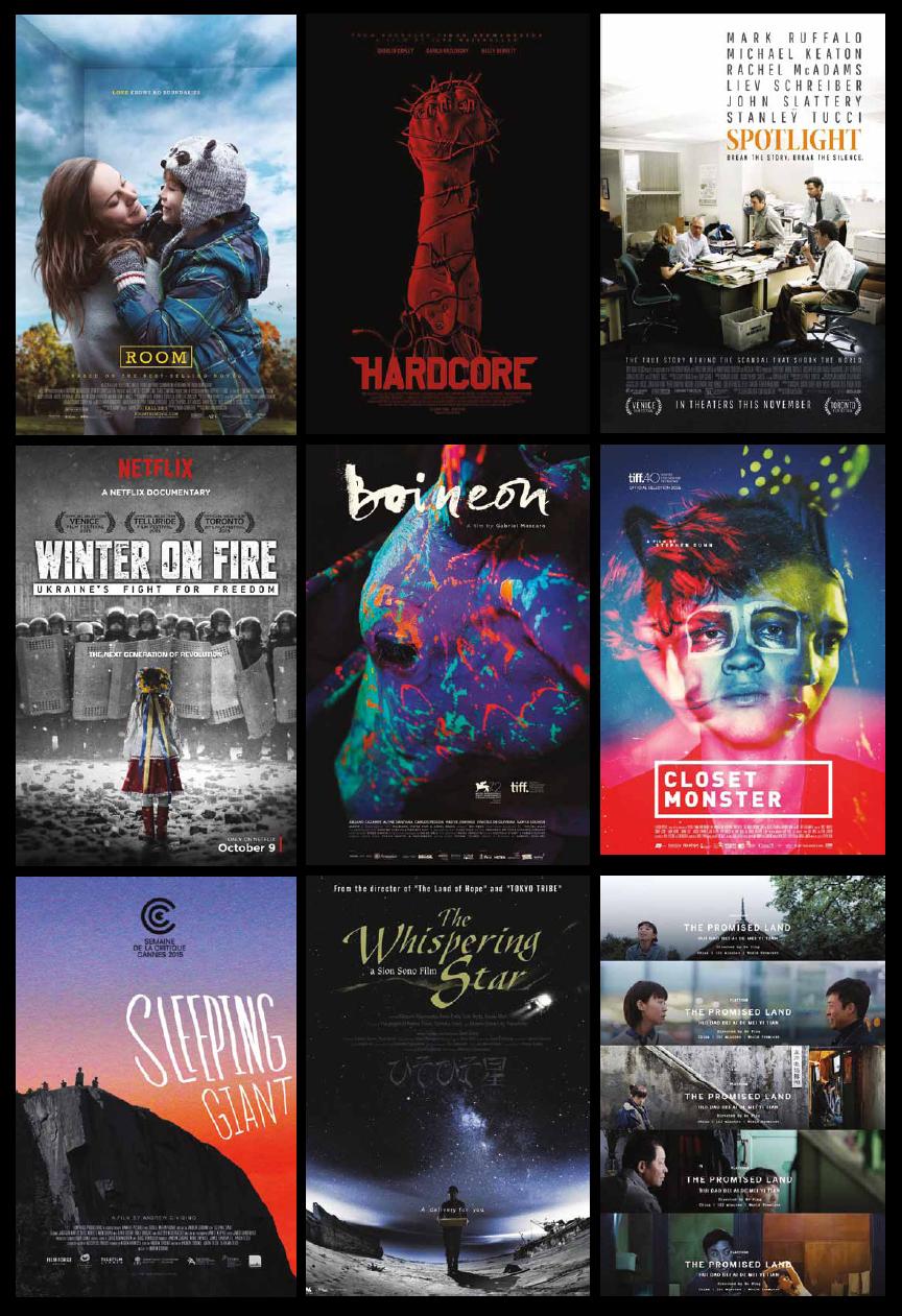 TIFF 2015 Award Movies